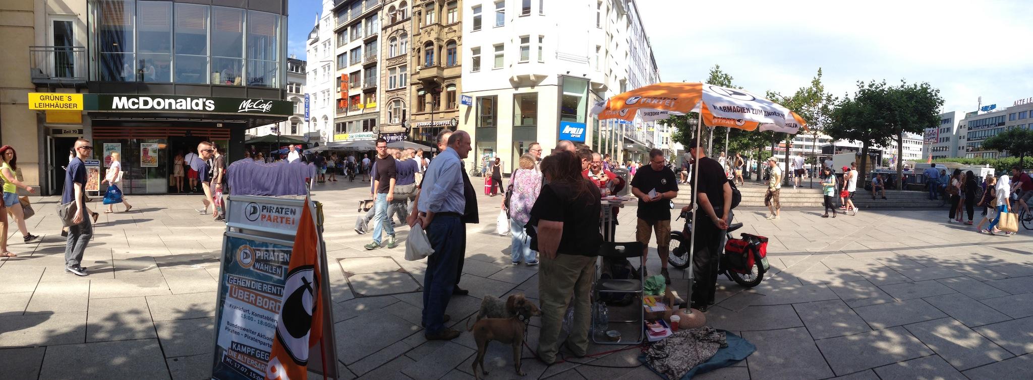 Bericht zum Aktionstag in Frankfurt gegen Altersarmut